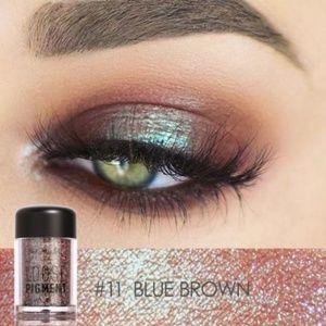 Focallure Blue Brown Intense Eyeshadow Color